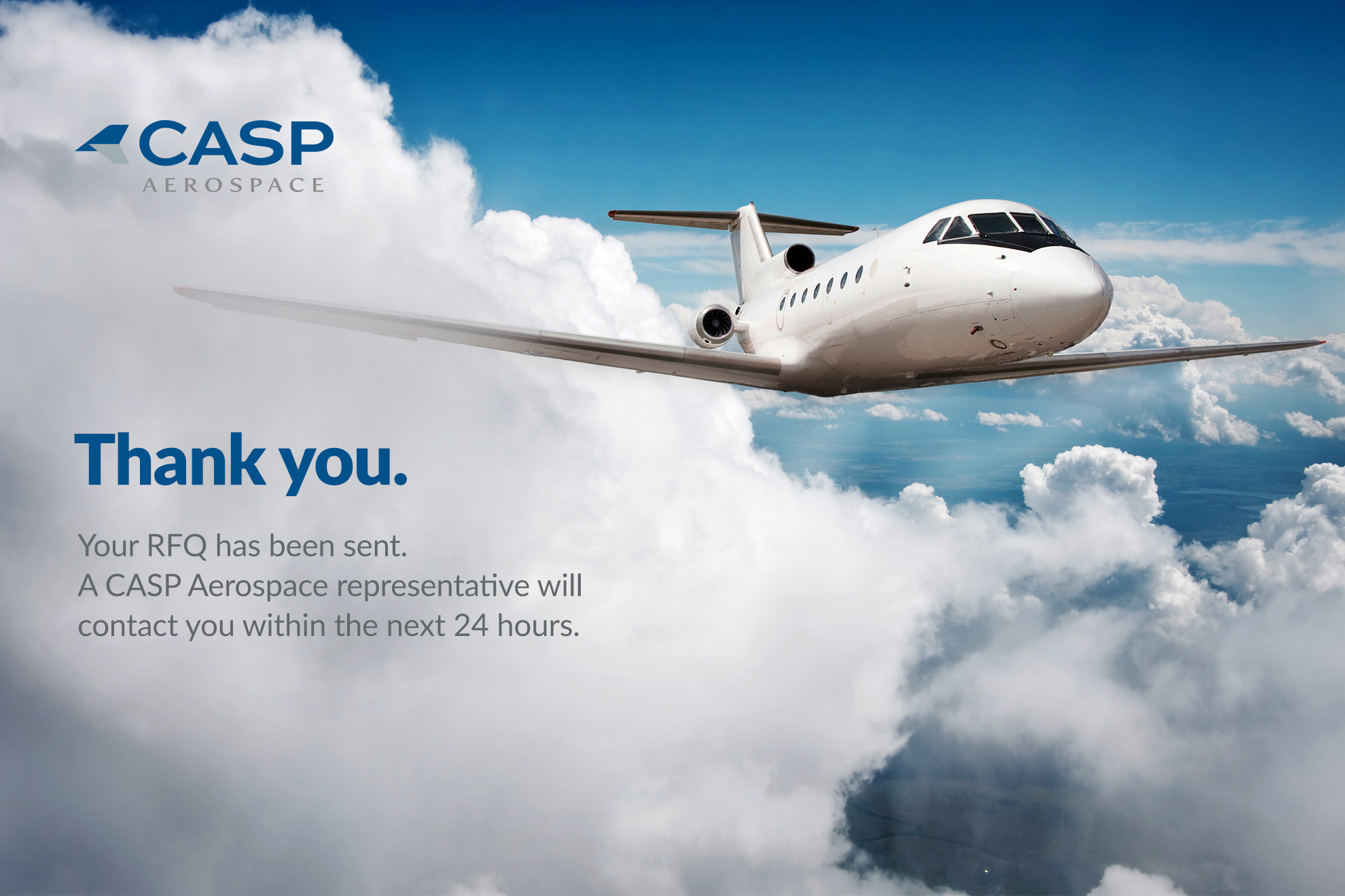 CASP Aerospace - Thank you message for RFQ.