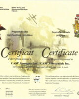 Controlled Good Certificate