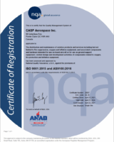 AS9100D & ISO 9100:2015 Certificate