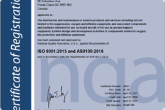 CASP Aerospace achieves AS9100D & ISO certification